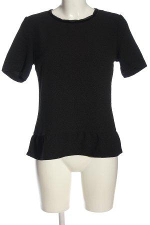 Maison Scotch Kurzarm-Bluse schwarz Casual-Look