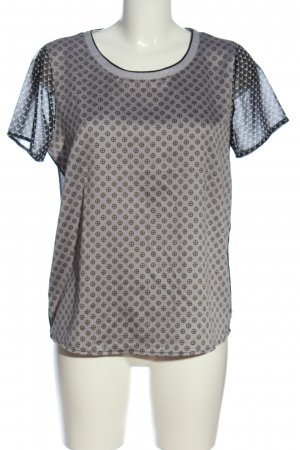 Maison Scotch Kurzarm-Bluse grafisches Muster Casual-Look