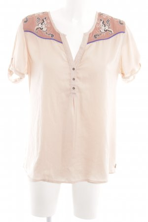 Maison Scotch Kurzarm-Bluse abstraktes Muster Casual-Look