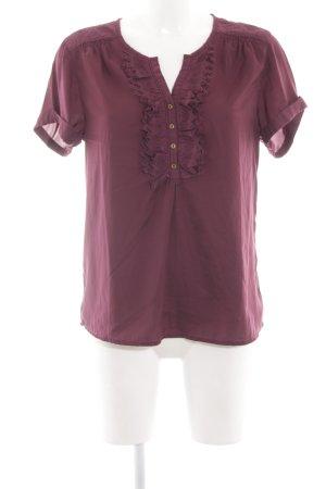 Maison Scotch Kurzarm-Bluse lila Elegant