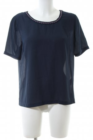 Maison Scotch Kurzarm-Bluse blau Casual-Look