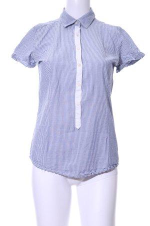 Maison Scotch Kurzarm-Bluse blau-weiß Streifenmuster Casual-Look