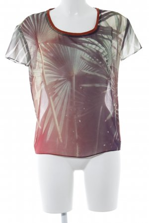 Maison Scotch Kurzarm-Bluse mehrfarbig Logo-Applikation aus Metall