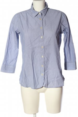Maison Scotch Kurzarmhemd blau-weiß Allover-Druck Casual-Look