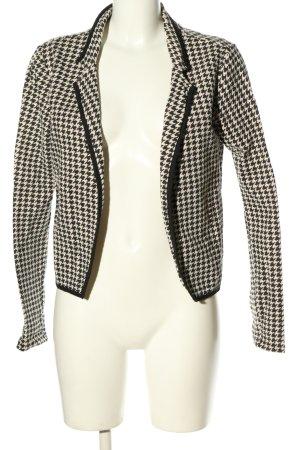 Maison Scotch Kurzjacke weiß-schwarz abstraktes Muster Business-Look