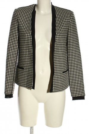 Maison Scotch Kurzjacke weiß-schwarz Streifenmuster Casual-Look