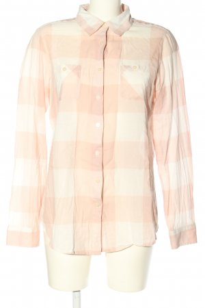 Maison Scotch Langarm-Bluse pink-weiß Karomuster Casual-Look