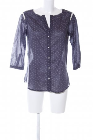 Maison Scotch Langarm-Bluse blau abstraktes Muster Business-Look