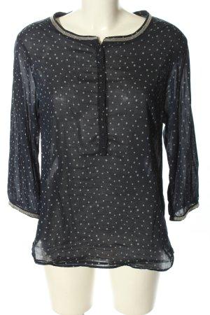 Maison Scotch Langarm-Bluse schwarz-weiß Punktemuster Casual-Look