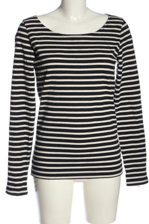 Maison Scotch Langarm-Bluse schwarz-weiß Streifenmuster Casual-Look