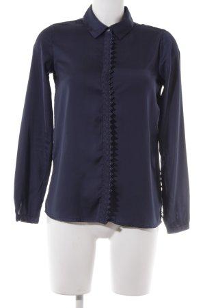 Maison Scotch Langarm-Bluse dunkelblau klassischer Stil