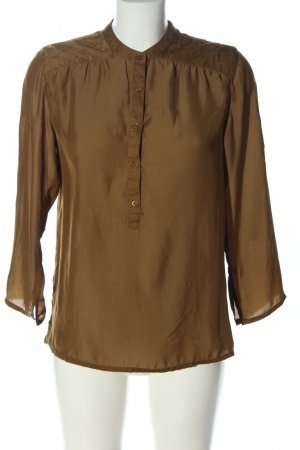Maison Scotch Langarm-Bluse braun Business-Look