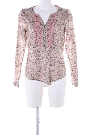 Maison Scotch Langarm-Bluse lila-pink Allover-Druck Elegant