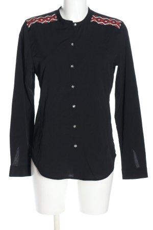 Maison Scotch Langarm-Bluse mehrfarbig Casual-Look