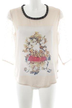 Maison Scotch Langarm-Bluse Motivdruck Casual-Look