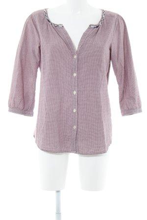 Maison Scotch Langarm-Bluse purpur-hellrosa Karomuster Casual-Look