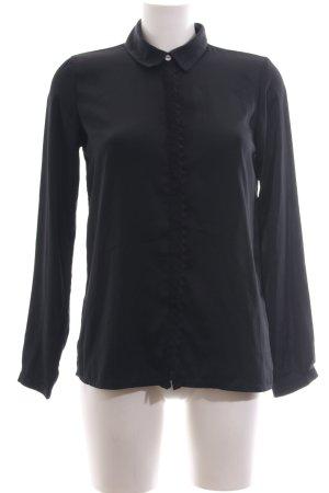 Maison Scotch Langarm-Bluse schwarz Business-Look