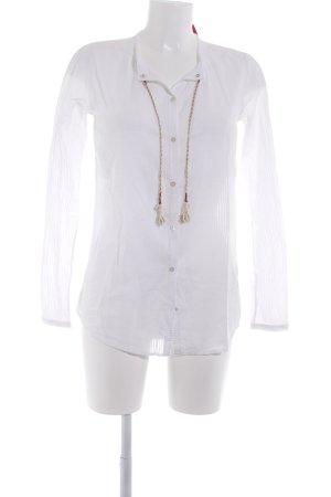 Maison Scotch Langarm-Bluse weiß Casual-Look