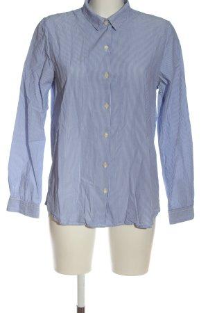 Maison Scotch Langarmhemd blau-weiß Allover-Druck Casual-Look