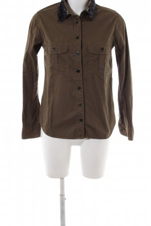 Maison Scotch Langarmhemd braun Casual-Look