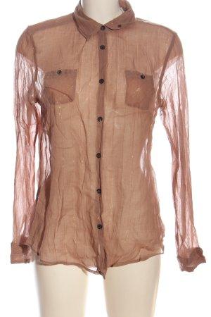 Maison Scotch Langarmhemd nude Casual-Look