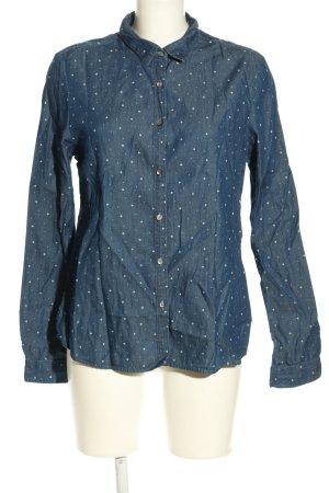 Maison Scotch Langarmhemd blau Punktemuster Casual-Look