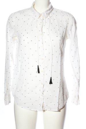 Maison Scotch Langarmhemd schwarz-weiß Punktemuster Business-Look
