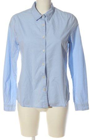 Maison Scotch Camisa de manga larga azul estilo «business»