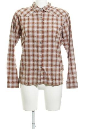 Maison Scotch Langarmhemd beige-rostrot Streifenmuster Casual-Look