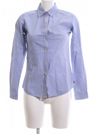 Maison Scotch Langarmhemd blau-weiß Streifenmuster Business-Look