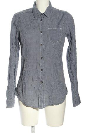 Maison Scotch Langarmhemd schwarz-weiß Allover-Druck Business-Look