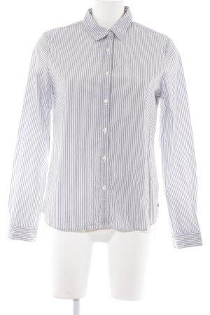 Maison Scotch Langarmhemd dunkelblau-weiß Streifenmuster Business-Look