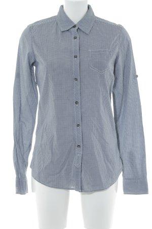 Maison Scotch Langarmhemd dunkelblau-weiß Elegant