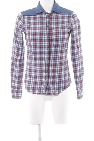 Maison Scotch Langarmhemd Karomuster Textil-Applikation