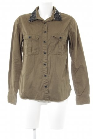 Maison Scotch Langarmhemd khaki Casual-Look