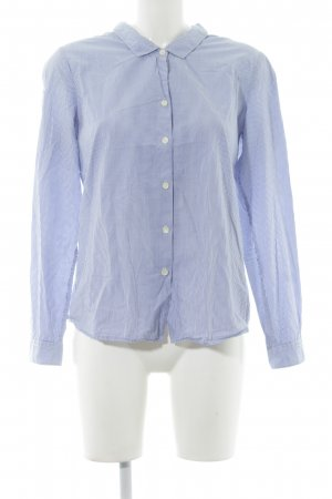 Maison Scotch Langarmhemd kornblumenblau Streifenmuster Business-Look