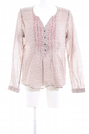 Maison Scotch Langarmhemd pink-hellgrau Allover-Druck Casual-Look