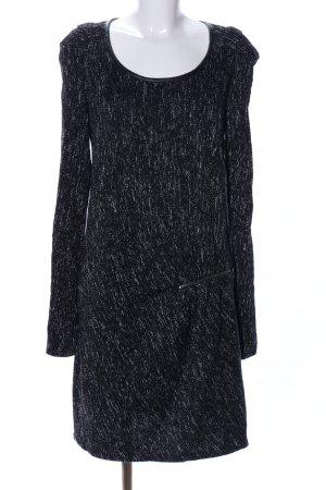Maison Scotch Langarmkleid schwarz-weiß meliert Casual-Look