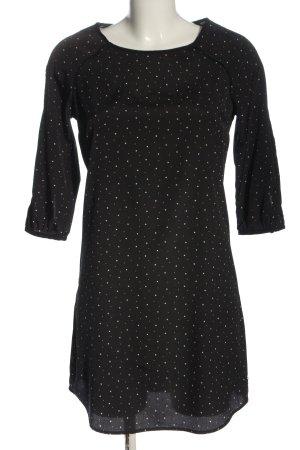 Maison Scotch Vestido de manga larga negro estampado temático look casual