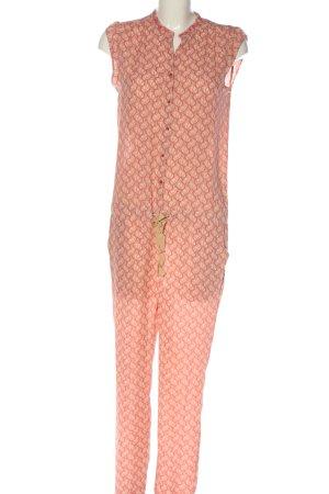 Maison Scotch Langer Jumpsuit rouge-crème motif graphique style décontracté