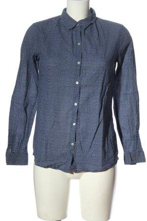 Maison Scotch Camicia a maniche lunghe blu-bianco stampa integrale elegante