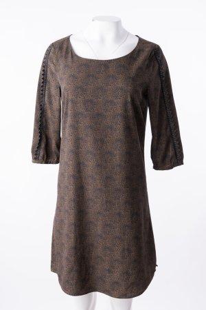 MAISON SCOTCH - Leichtes Kleid mit Zackendetails Braun-Schwarz gemustert
