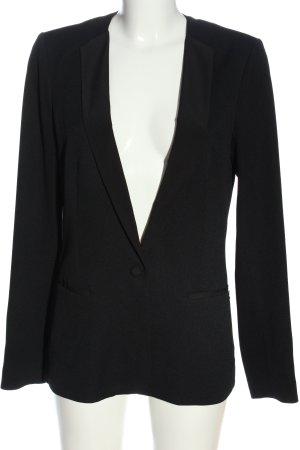 Maison Scotch Lange blazer zwart gestippeld casual uitstraling