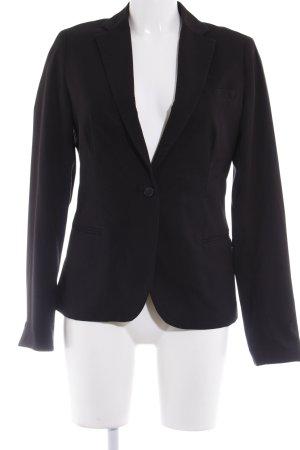Maison Scotch Long-Blazer schwarz klassischer Stil