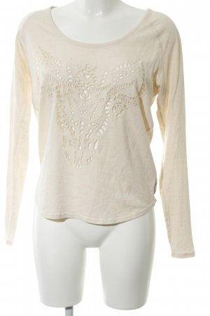 Maison Scotch Longsleeve creme meliert Casual-Look