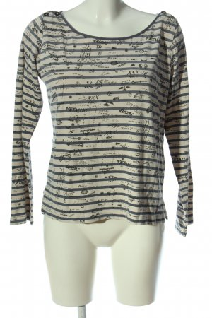 Maison Scotch Longsleeve wollweiß-hellgrau Allover-Druck Casual-Look