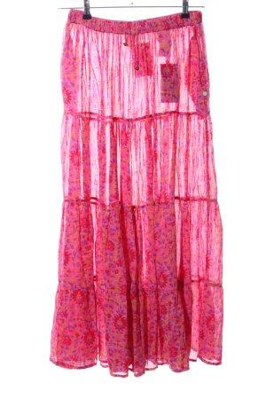 Maison Scotch Maxirock pink-lila Allover-Druck Casual-Look