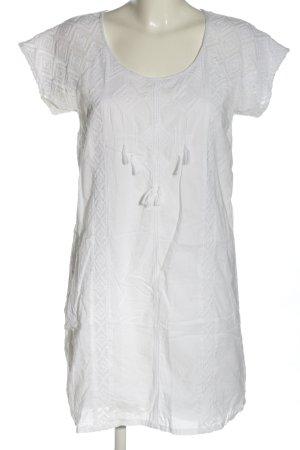 Maison Scotch Minikleid weiß grafisches Muster Casual-Look