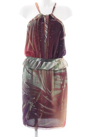 Maison Scotch Neckholderkleid Allover-Druck extravaganter Stil