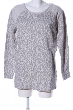 Maison Scotch Oversized Pullover hellgrau Allover-Druck Casual-Look